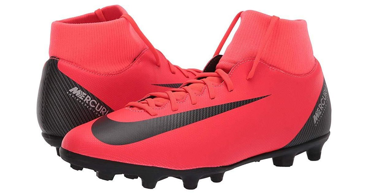 the best attitude 932a5 85019 Nike - Red Superfly 6 Club Cr7 Mg (bright Crimson/black/chrome) Soccer  Shoes for Men - Lyst