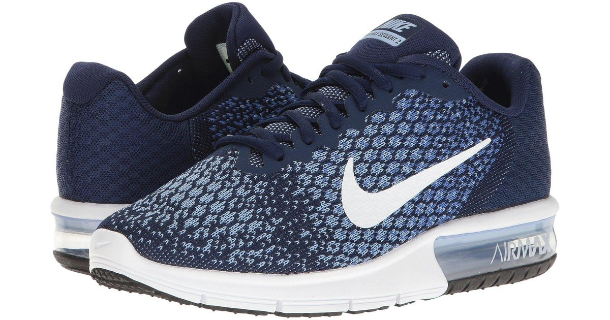 Nike Nike Air Max Sequent 2 (Binary BlueWhiteComet BlueAluminum) Women's Running Shoes from 6pm | Shop