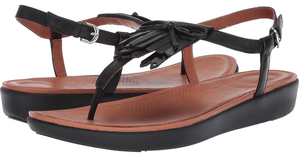 117308db826 Lyst - Fitflop Tia Fringe Toe Thong Sandal in Black