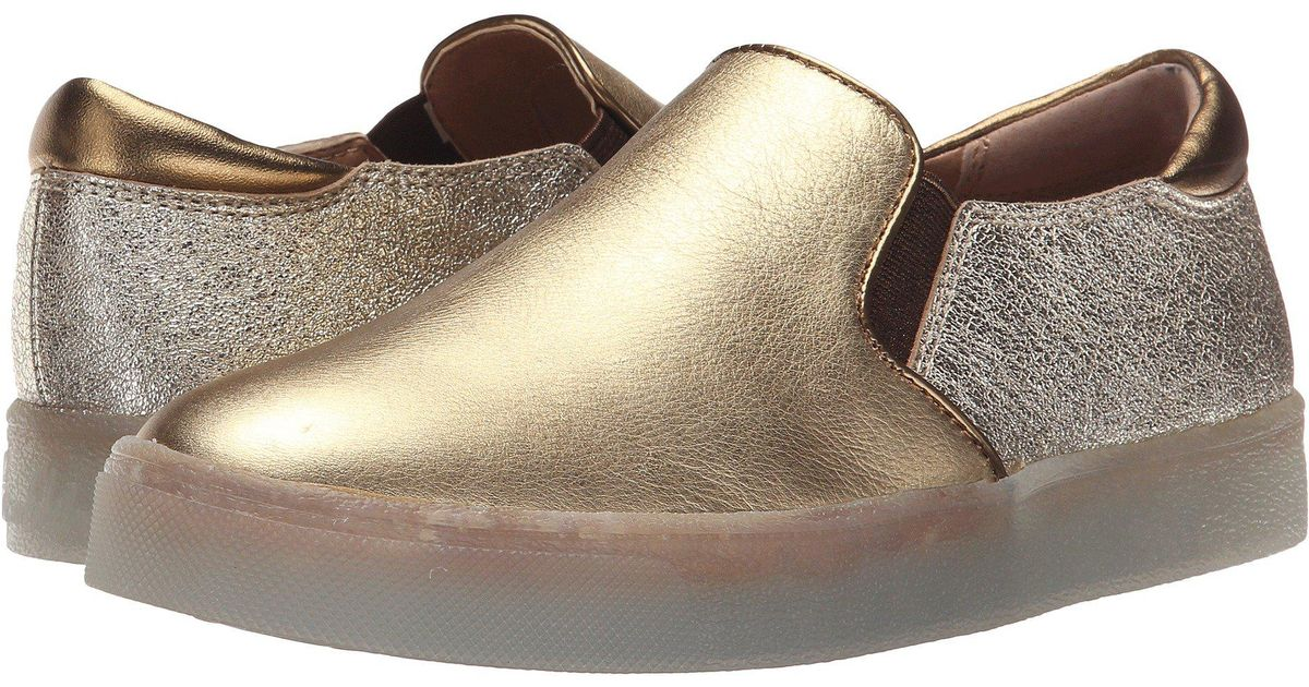 Womens Shoes Sam Edelman Miles Dark Gold/Platino Metallic Leather