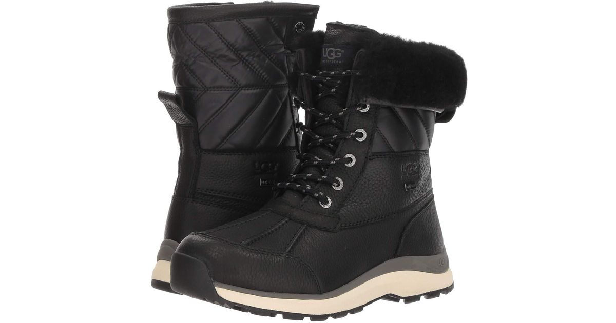 53557b35cce Ugg - Black Adirondack Quilt Boot Iii - Lyst
