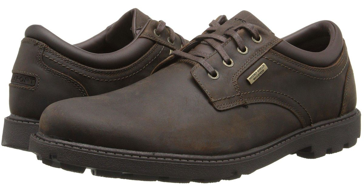 4098eaf7c6d2 Lyst - Rockport Storm Surge Water Proof Plain Toe Oxford in Brown for Men