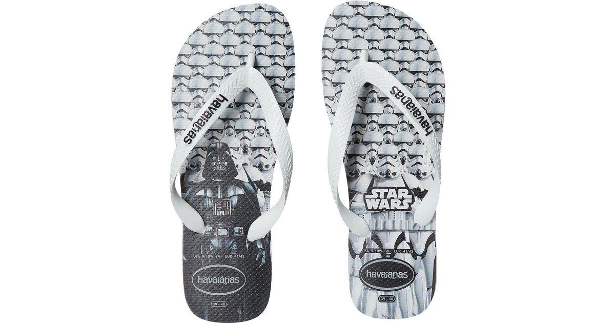 2d6eb0bfd675b7 Lyst - Havaianas Brasil Star Wars Flip-flops in White for Men