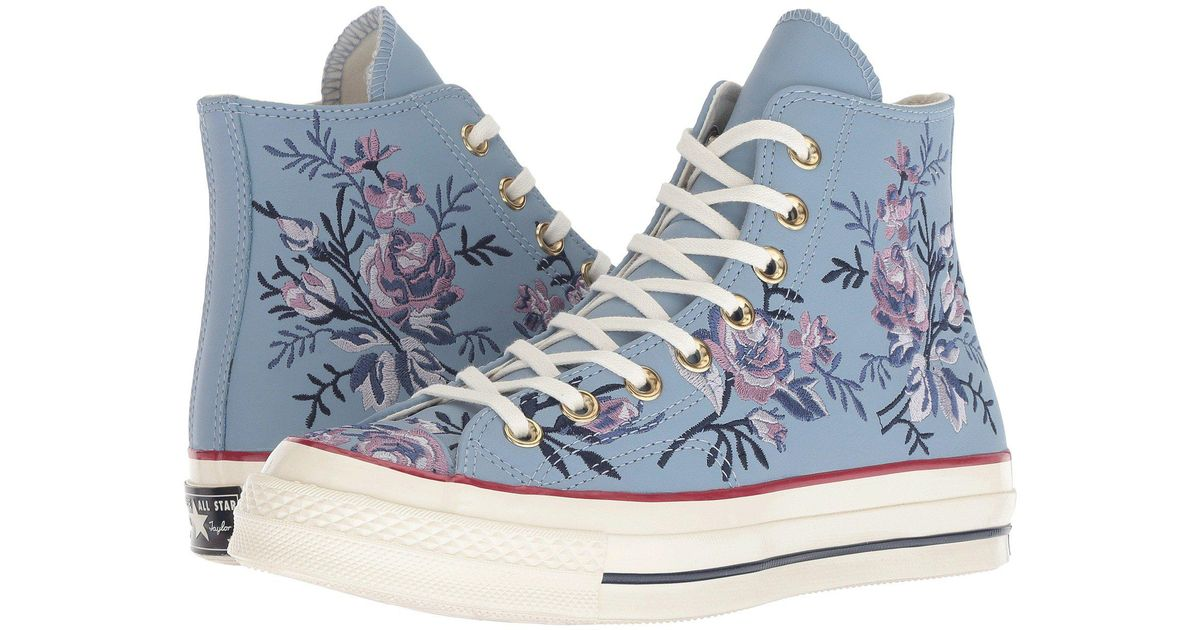 5fa23dc49d34b2 Lyst - Converse Chuck 70 - Parkway Floral Hi in Blue