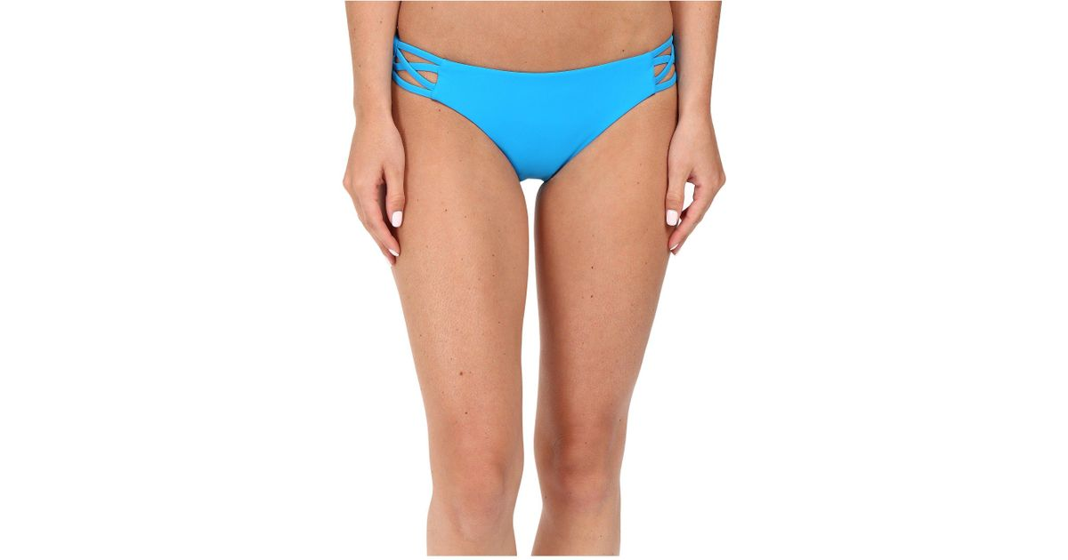 6a7186933c Lyst - Red Carter Splice   Dice Side Cut Out Classic Hipster Bottoms in Blue