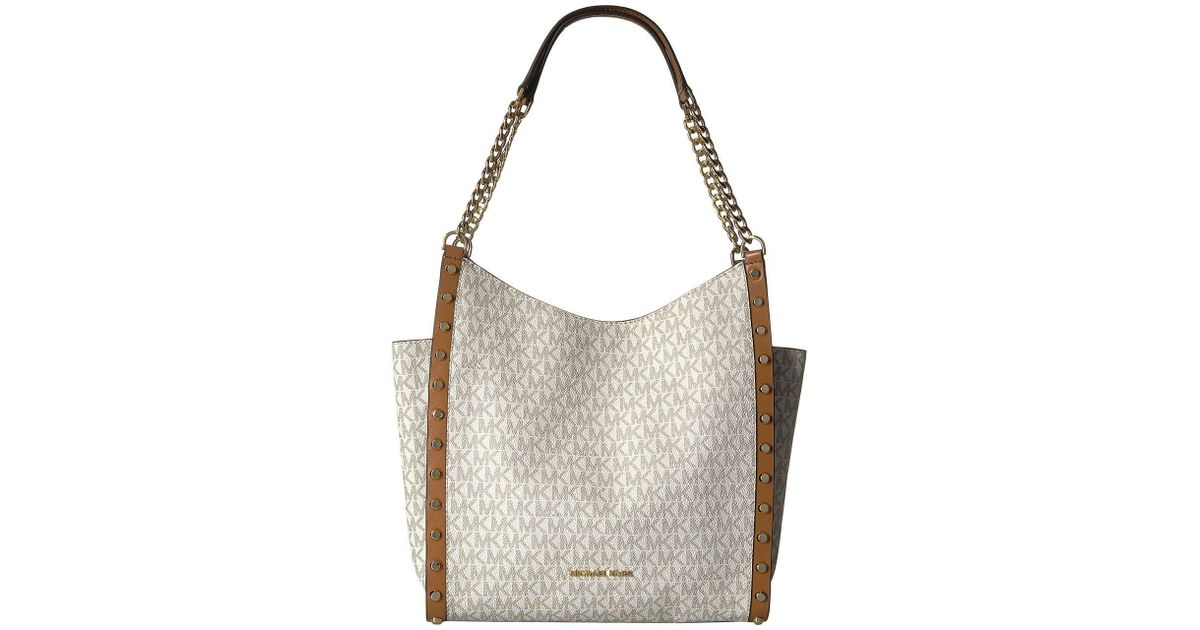 Lyst - MICHAEL Michael Kors Newbury Medium Chain Shoulder Tote