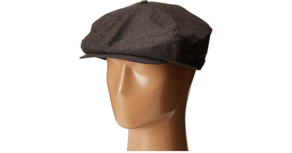 36d8b9b947f spain lyst brixton ollie cap in brown for men fa802 2e21c