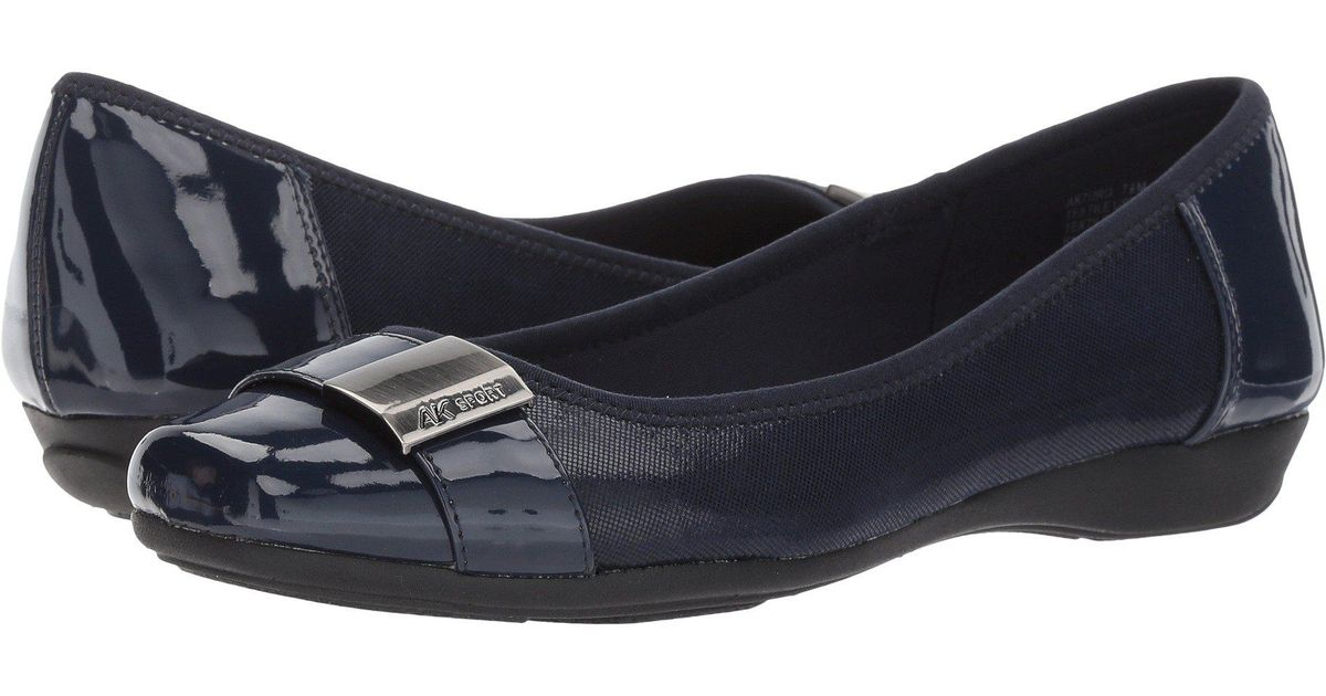 Womens Anne Klein Tapio Flats Shoes Navy Multi Synthetic NCU90392