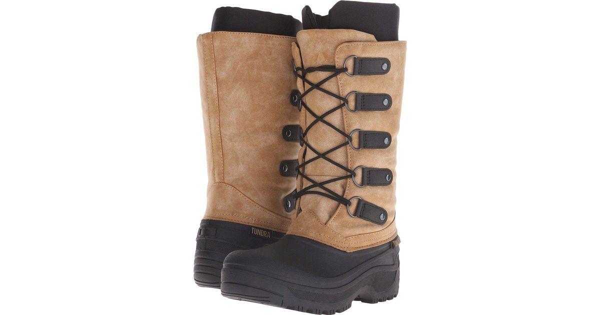 db2c4e95aa071 Lyst - Tundra Boots Tatiana in Black