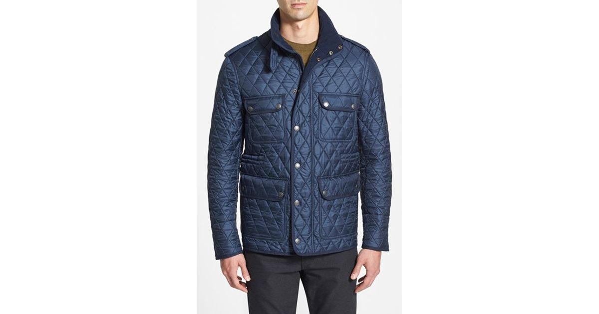 3a6cff79bc6 Burberry Brit 'russell' Quilted Field Jacket in Blue for Men - Lyst