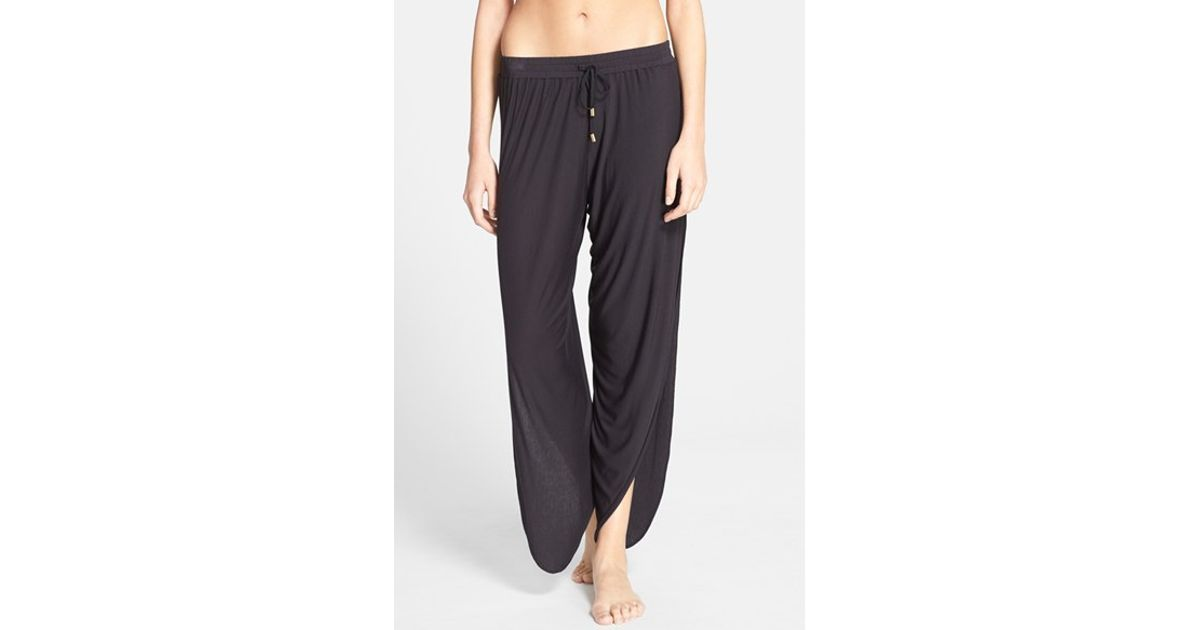 Book Cover Black Jeans : Laundry by shelli segal cover up pants in black lyst