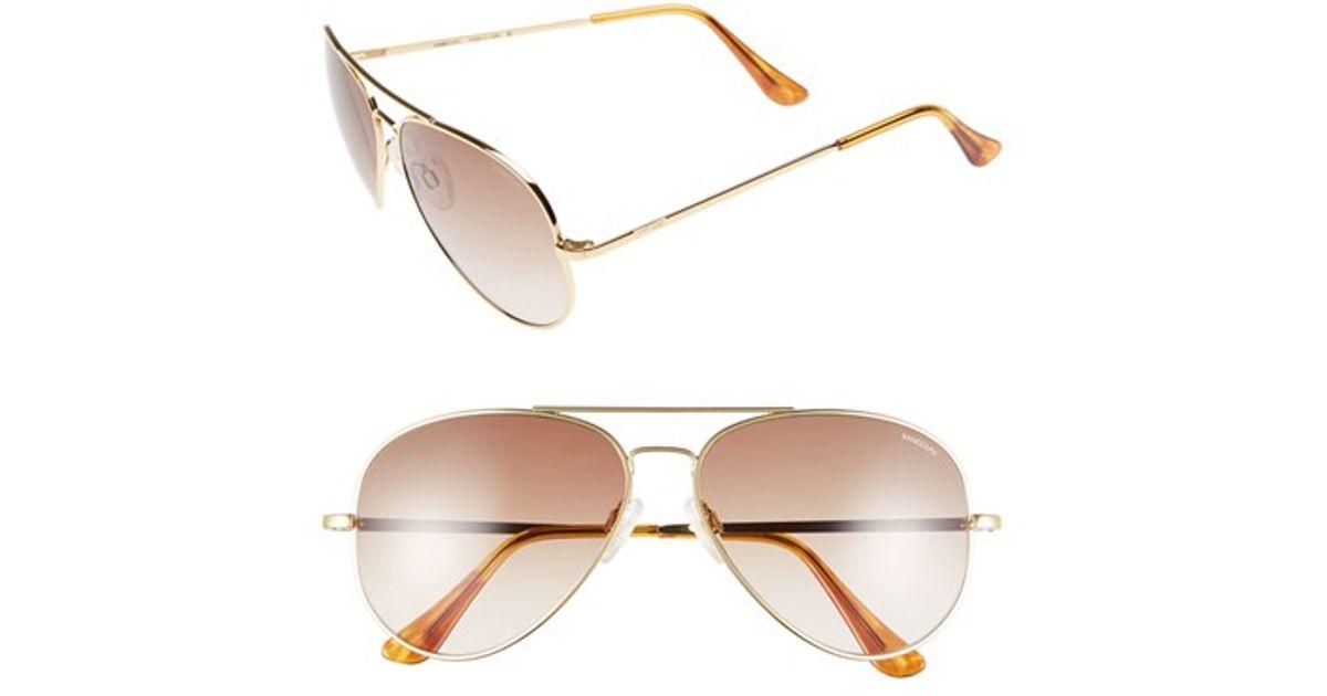 032db6b647 Lyst - Randolph Engineering  concorde  61mm Aviator Sunglasses - 23k Gold   Tan Gradient in Metallic for Men