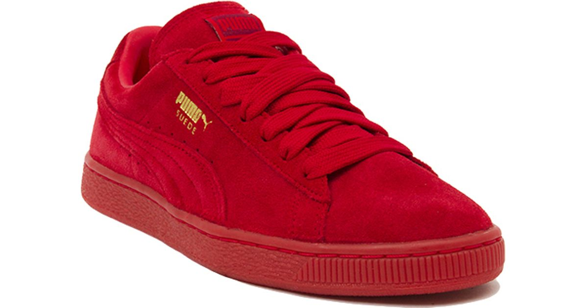 553f02ff147c8a Lyst - PUMA Suede Classic + Mono Iced Sneakers in Red