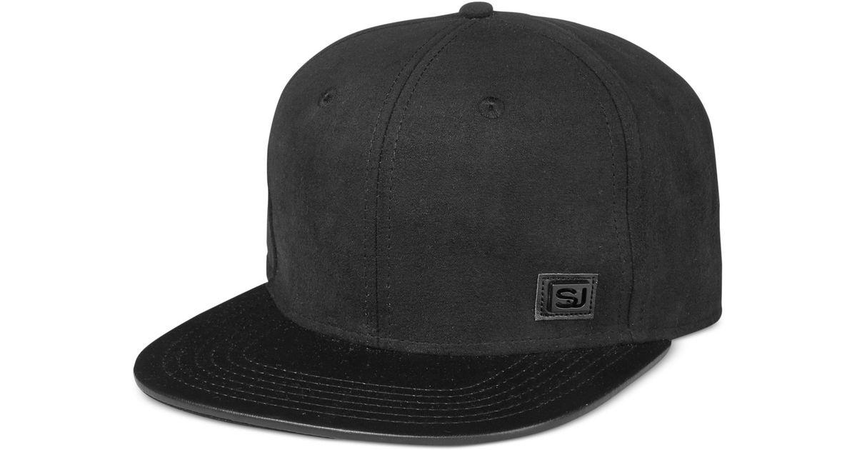 Lyst - Sean John Faux-suede Hat in Black for Men 988a111122e