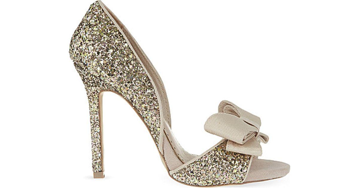 a6827e45bd Miss Kg Gabriella Glitter Heeled Sandals - For Women - Lyst