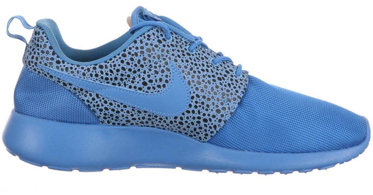 3a5f3ea840c0a Lyst - Nike Roshe Run Safari Blitz Blue in Blue for Men