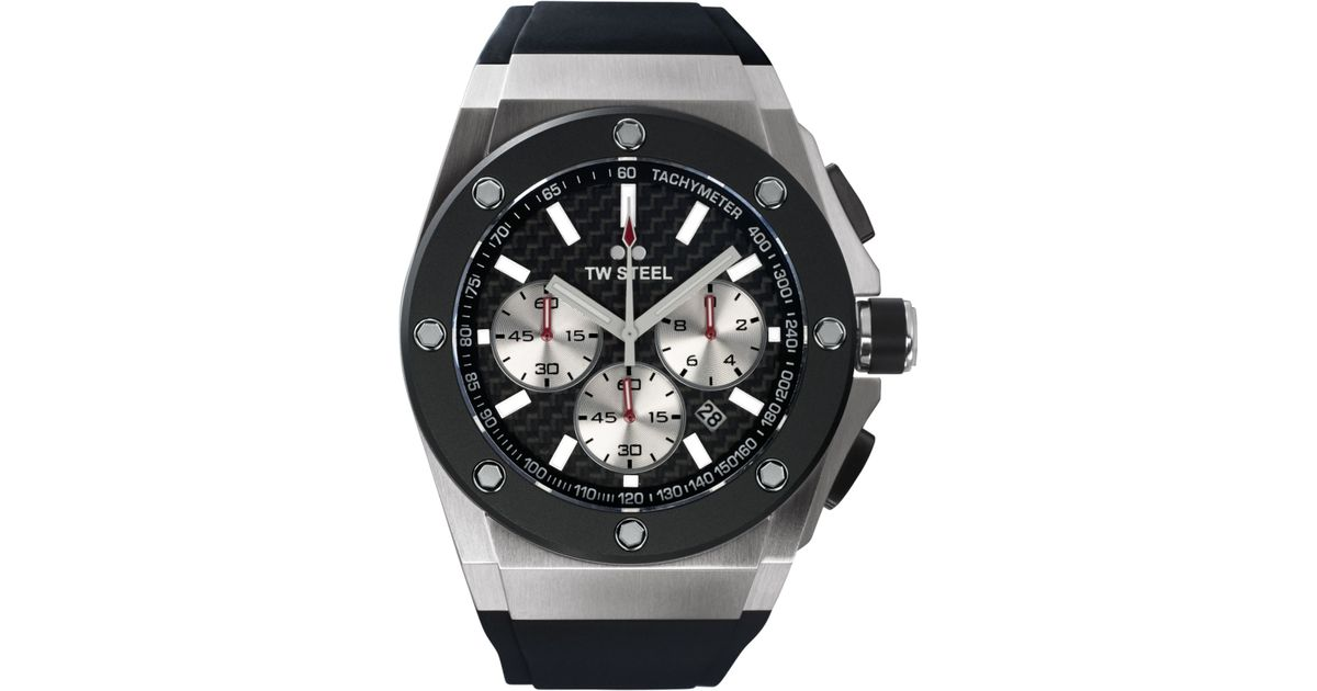 6dd1ba317a3 Lyst - TW Steel Unisex Chronograph Ceo Tech Black Silicone Strap Watch 48Mm  Ce4020 - David Coulthard Special Edition in Gray for Men