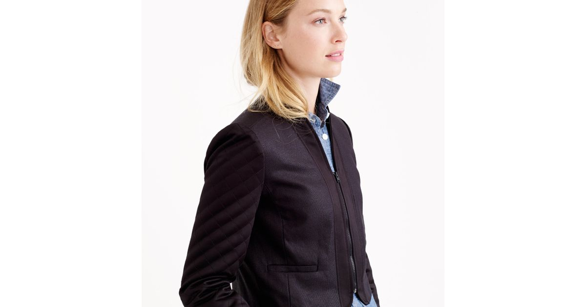 J.crew Quilted Cropped Jacket in Black | Lyst : quilted cropped jacket - Adamdwight.com