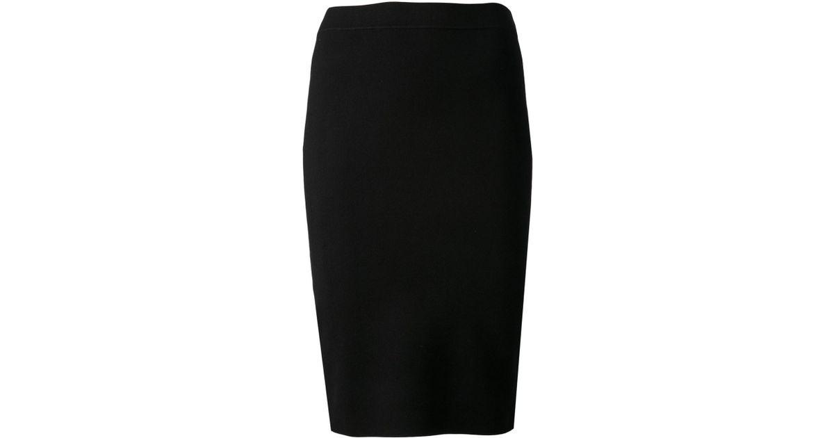 67f0404d9 Jonathan Simkhai Knit Pencil Skirt in Black - Lyst