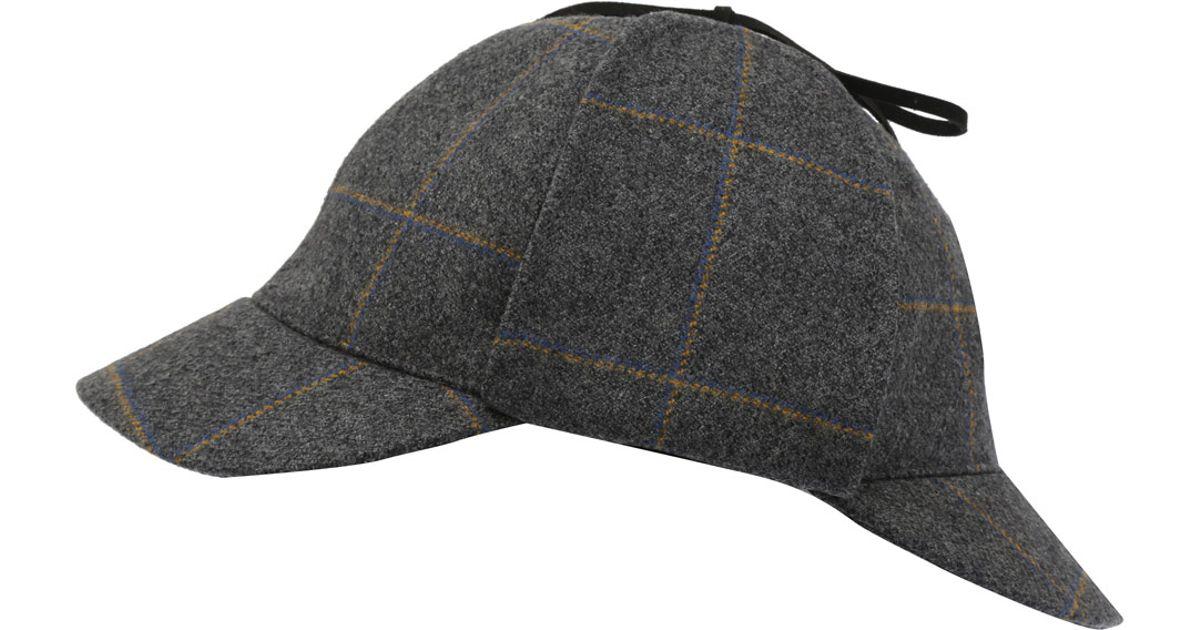 christys grey sherlock wool deerstalker hat in gray for