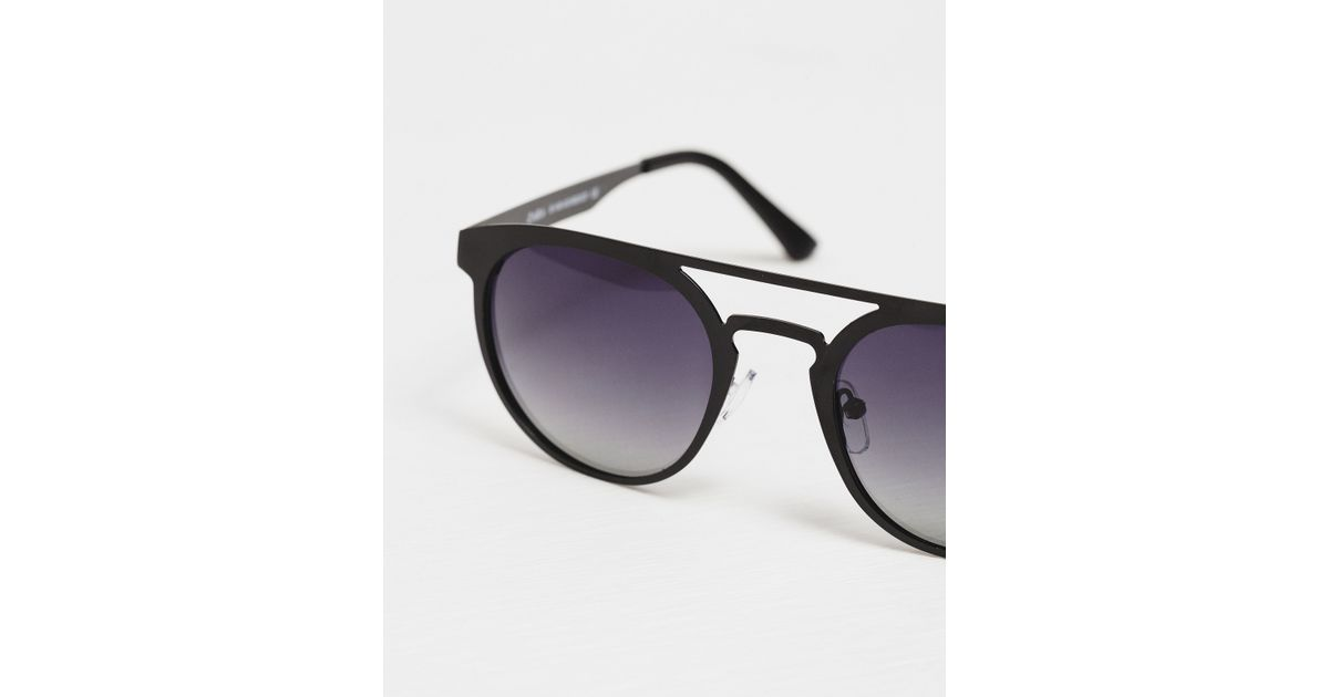 Zara Glasses Frames : Zara Metal Frame Sunglasses in Black for Men Lyst