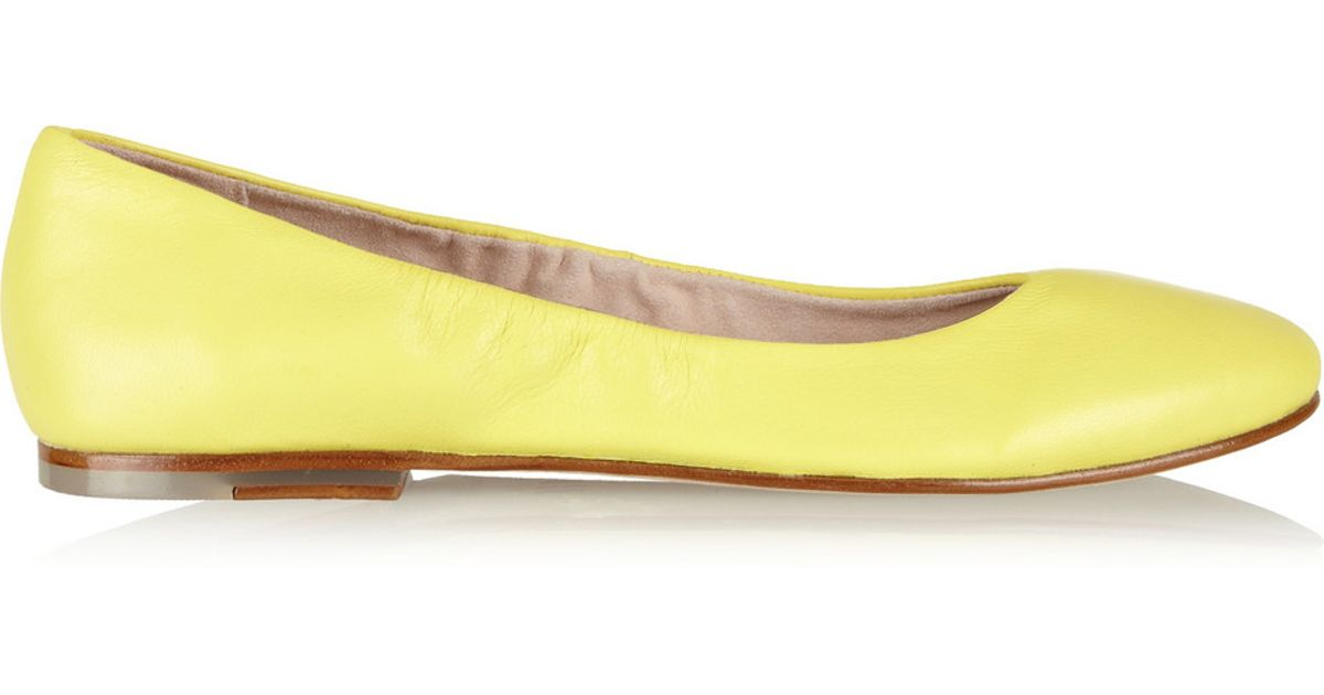 ca7a955413 Lyst - Bloch Leather Ballet Flats in Yellow