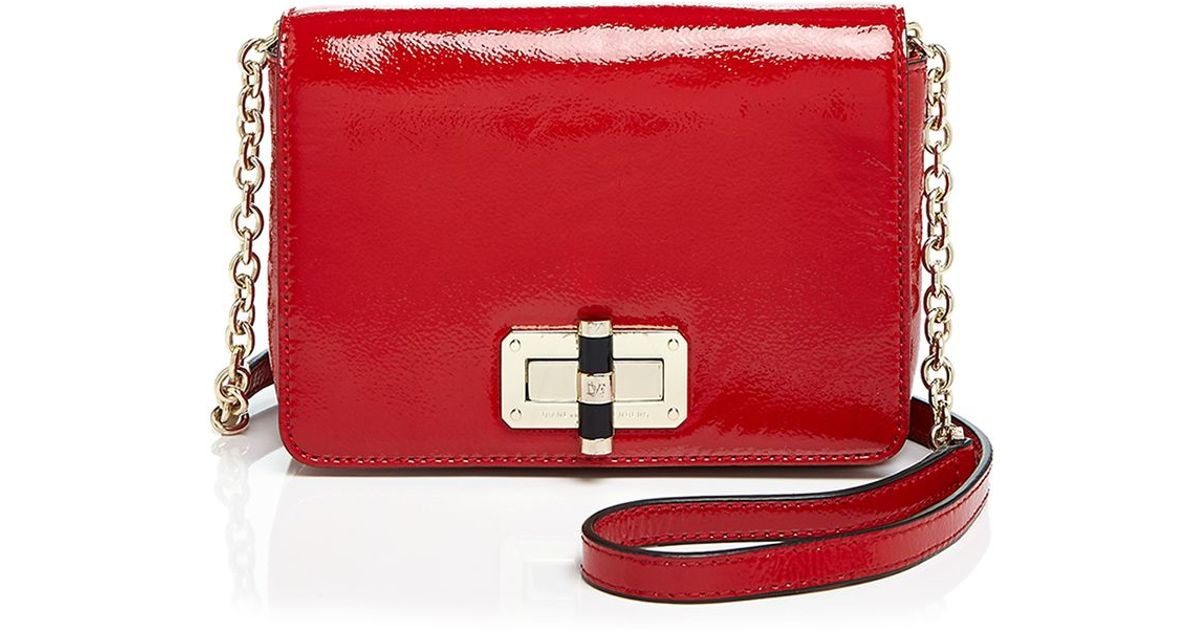 26fb860eedb Lyst - Diane von Furstenberg 440 Gallery Bellini Patent Crossbody in Red