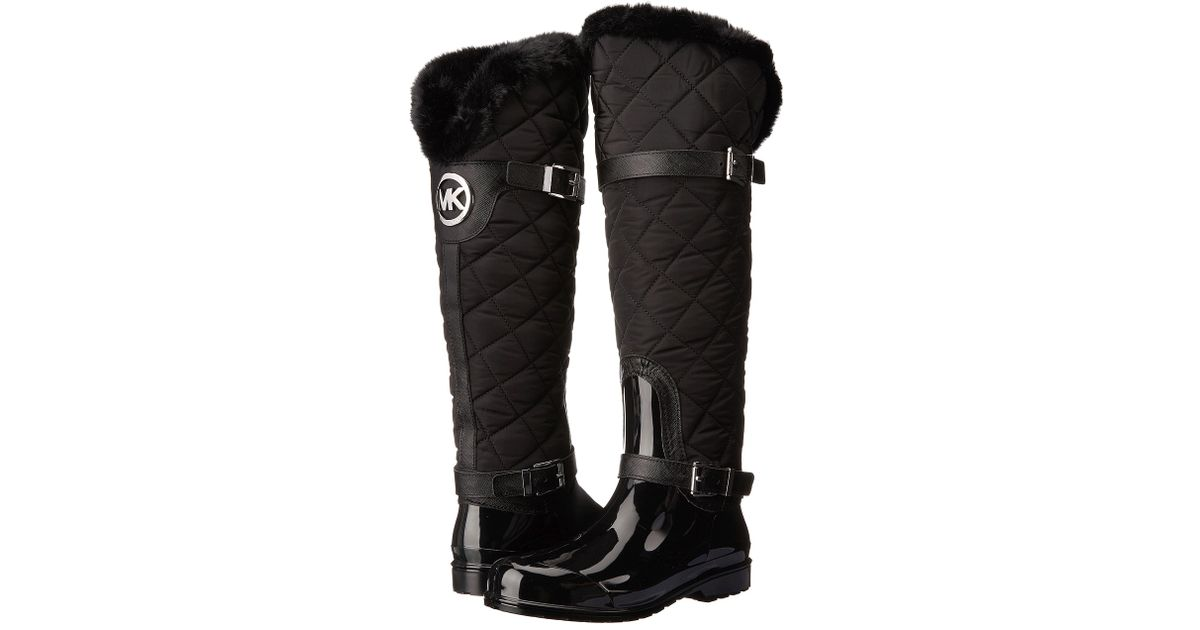 Michael michael kors Fulton Quilted Rainboot in Black | Lyst : quilted rainboots - Adamdwight.com