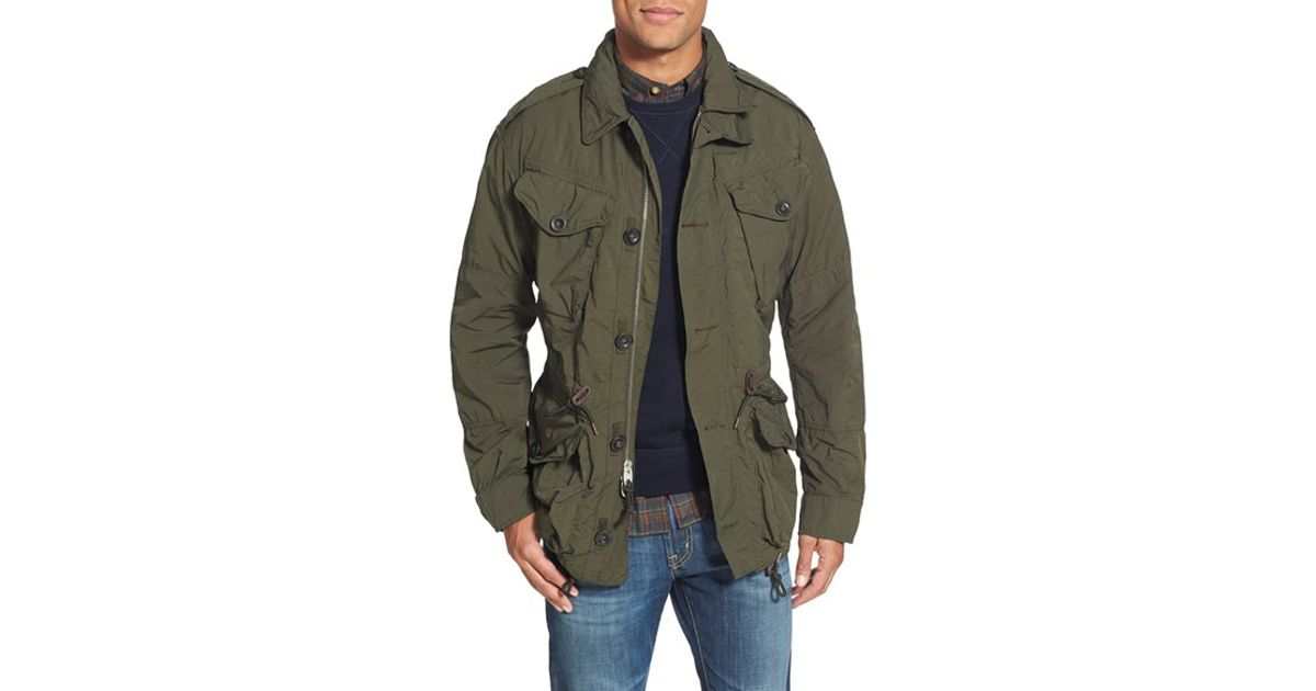 Polo Ralph Lauren Twill Combat Military Jacket In Green For Men Well Olive Lyst
