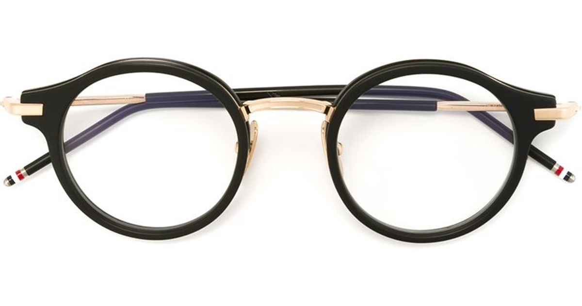 Thom browne Round Frame Glasses in Black for Men Lyst