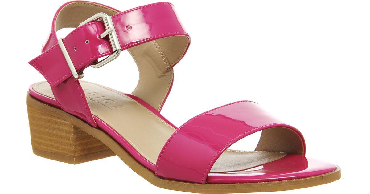 office williamsburg block heel sandal in pink lyst