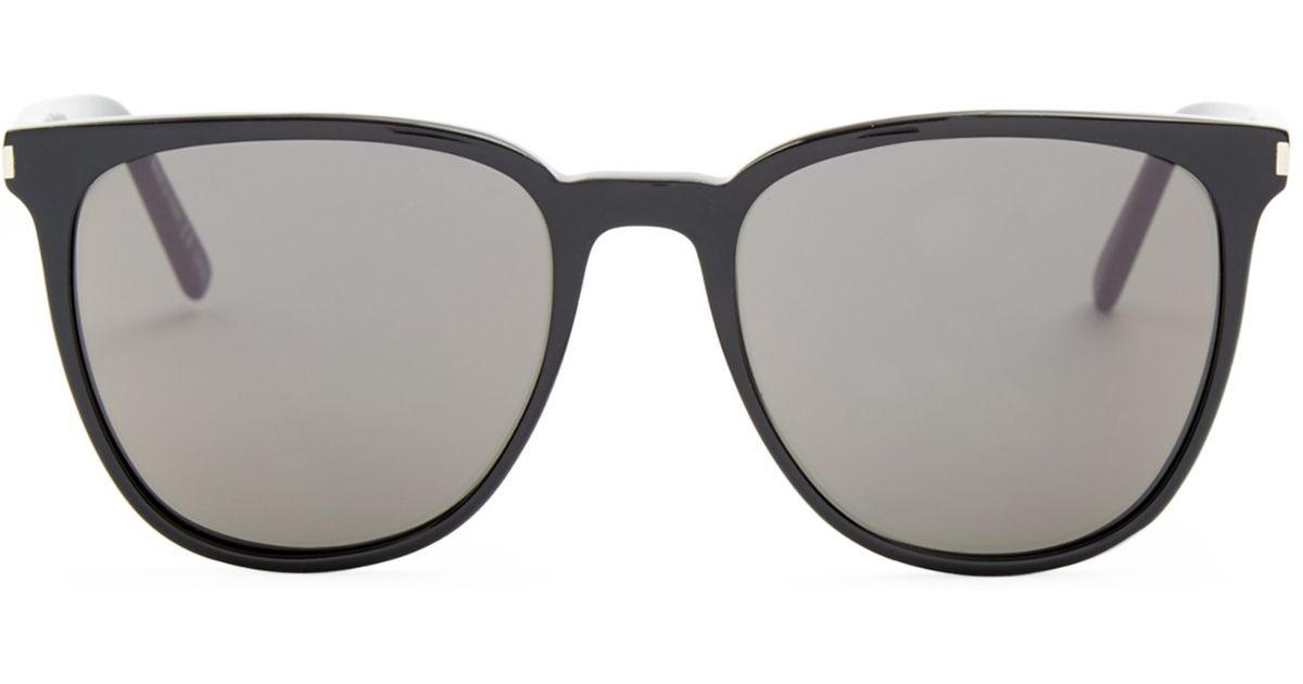 b1056c40d9 Saint laurent Square-frame Acetate Sunglasses in Black for Men (BLACK GREY)