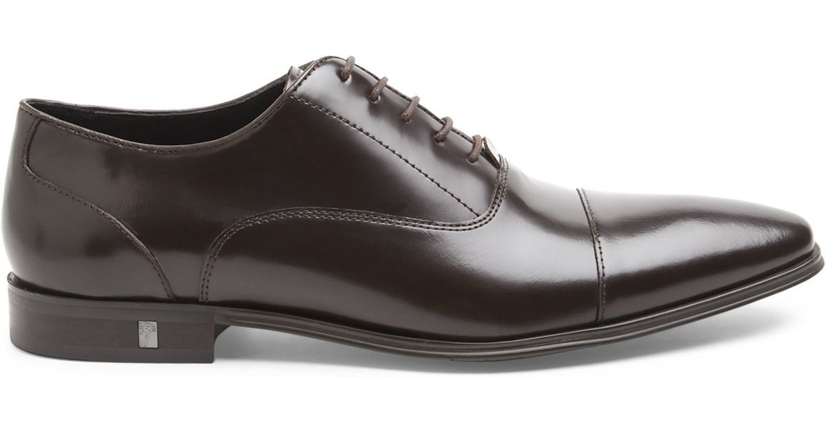 bdebaf161d3 Lyst - Versace Dark Brown Cap Toe Oxfords in Brown for Men