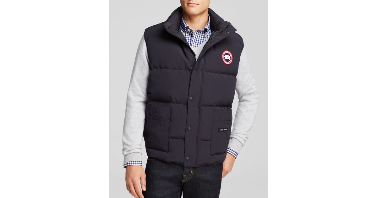 Canada Goose mens replica 2016 - Canada goose Freestyle Down Vest in Blue for Men (Navy) | Lyst