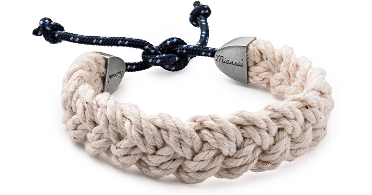 Miansai Nantucket Men S Braided Bracelet In Natural Lyst