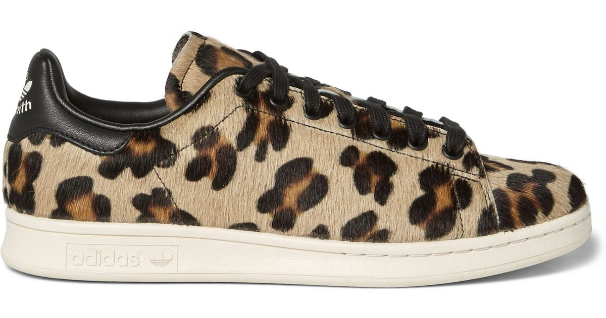 ad3391df1acc ... coupon code for adidas originals stan smith leopard print pony hair  sneakers in black for men