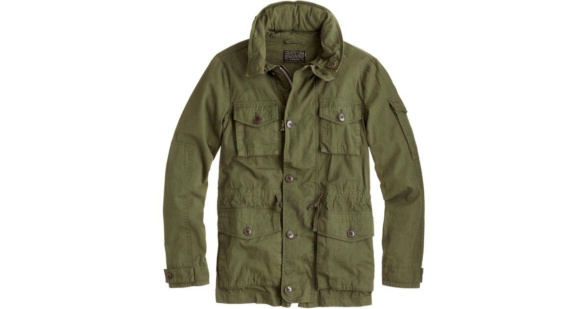 jcrew field mechanic jacket in green for men lyst