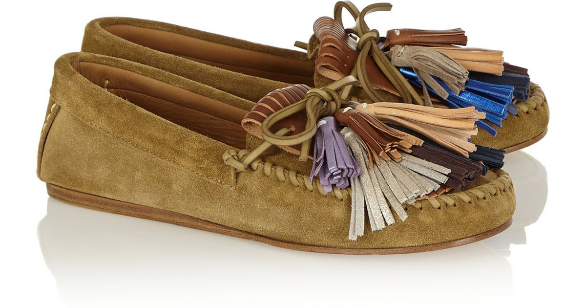 26f4d135aeb Lyst - Isabel Marant Étoile Maple Tasseled Suede Moccasins in Brown