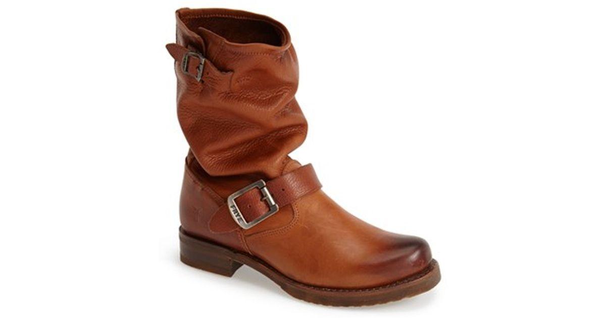 Frye Veronica Shortie Slouchy Boot In Brown Whiskey Lyst