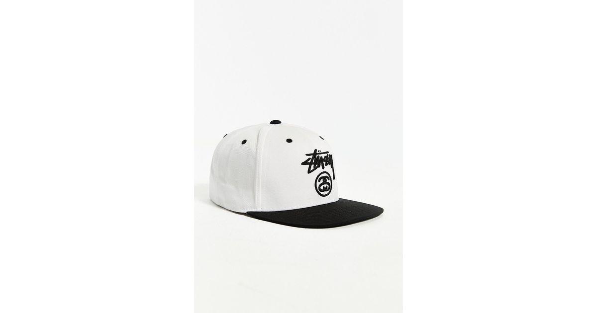 4cbdcdd5d36 Lyst - Stussy Stock Lock Su-15 Snapback Hat in White for Men