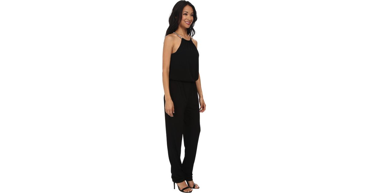 8f0bac8d2da Lyst - RSVP Lydia Necklace Jumpsuit in Black