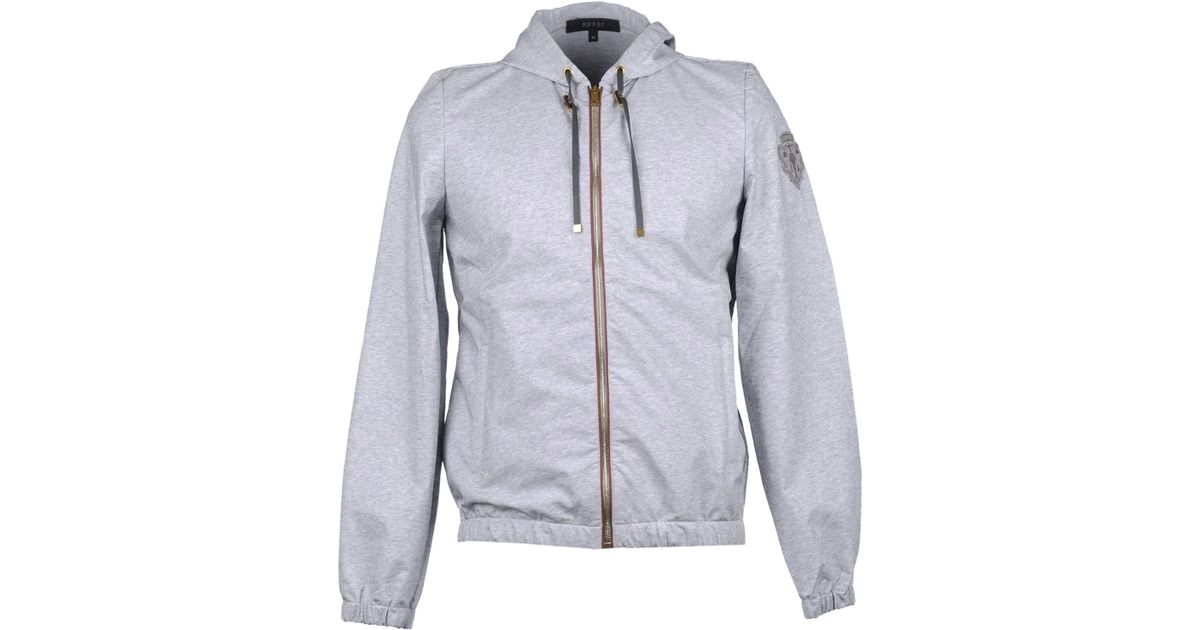 d9451cce2ad Gucci Jacket in Gray for Men - Lyst