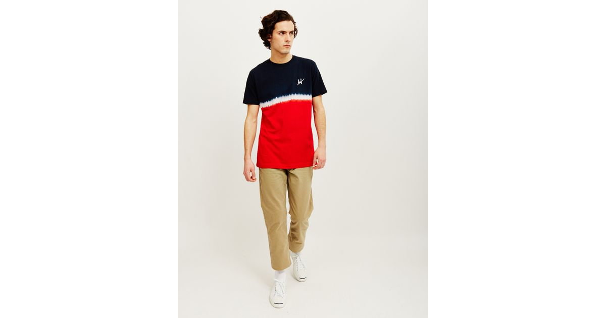 1cc8812f90 Huf Stripe Wash T-shirt Red in Red for Men - Lyst