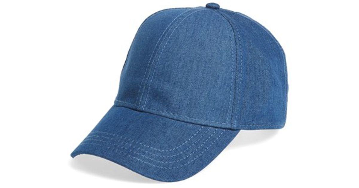3ab083561d0 Lyst - TOPMAN Cotton Denim Baseball Cap in Blue for Men