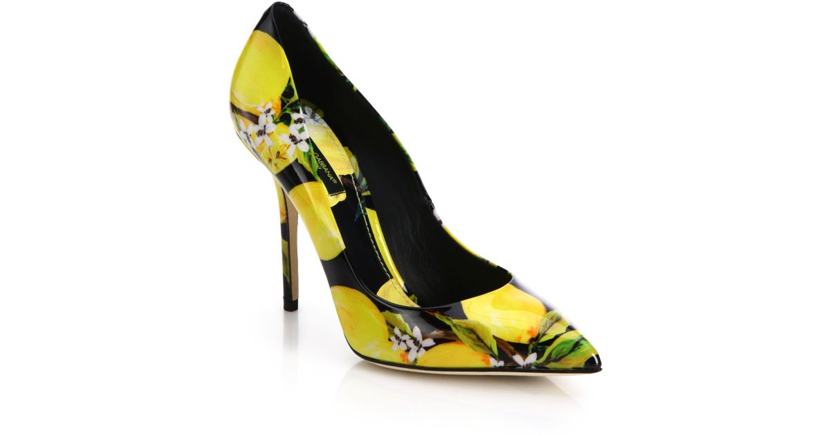 Dolce & Gabbana Printed Patent Pumps pay with visa sale online 100% authentic online clearance prices f7h0SY