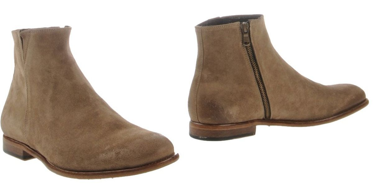 ndc side zip suede ankle boots in for lyst