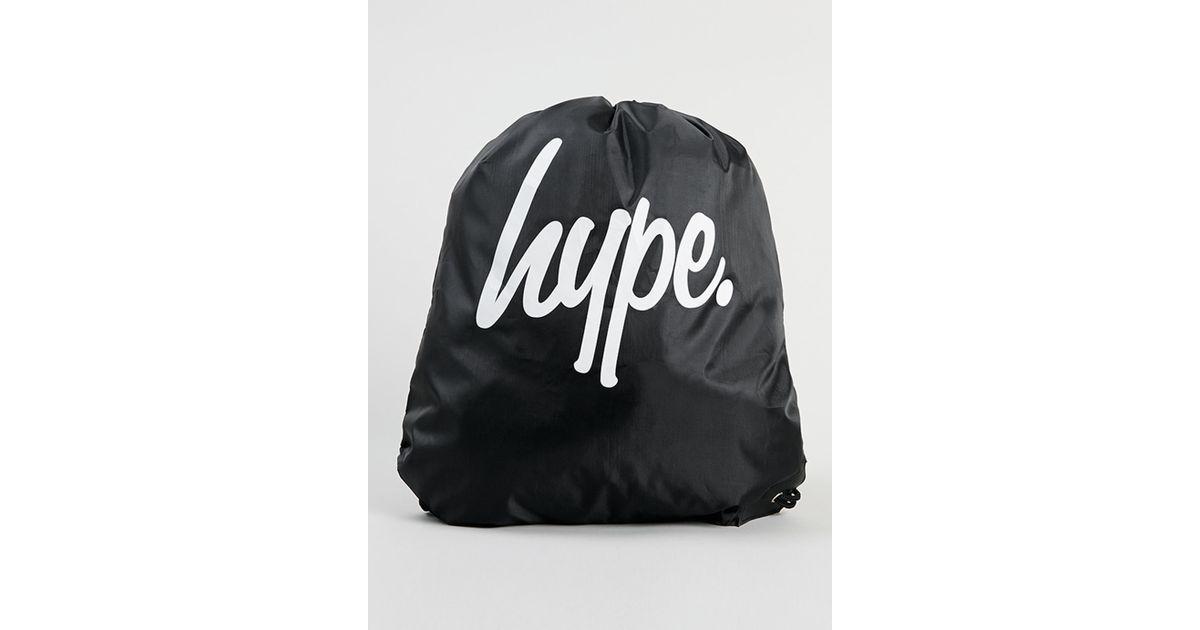Lyst - Hype Black Drawstring Bag  in Black for Men c3f7c89a03d0c