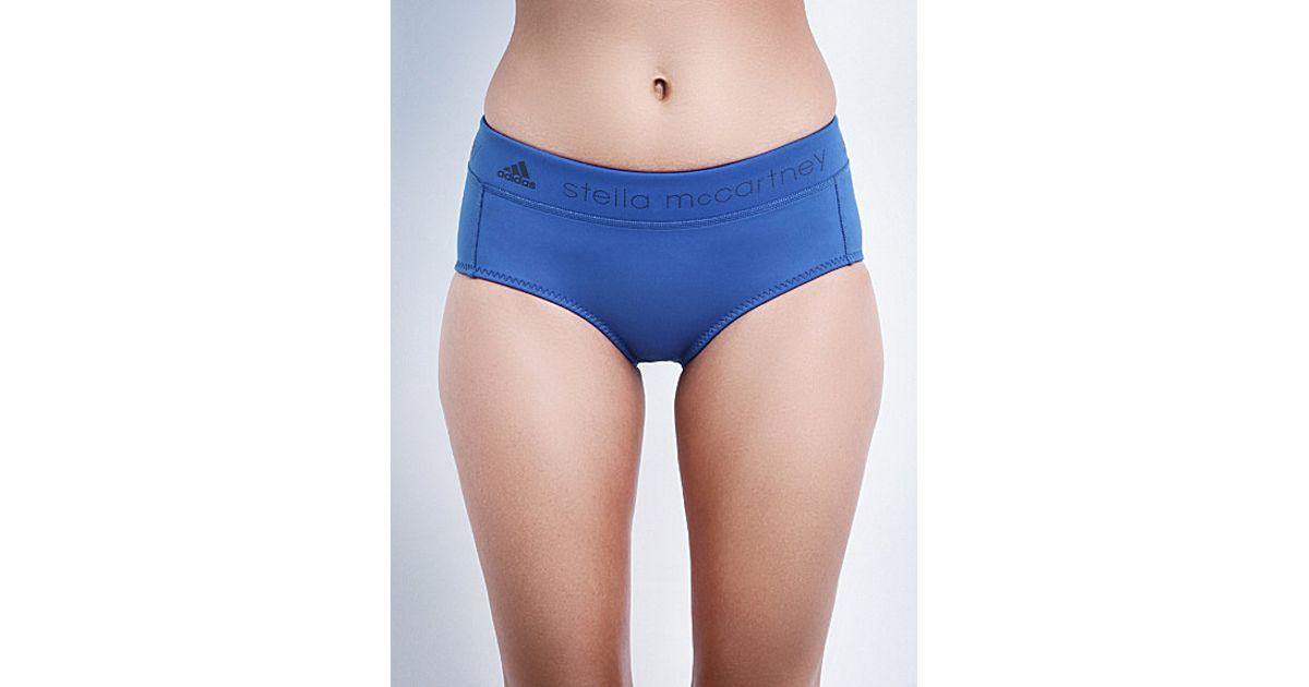 b8e894fdde Lyst - adidas By Stella McCartney Branded Neoprene Swim Shorts in Blue