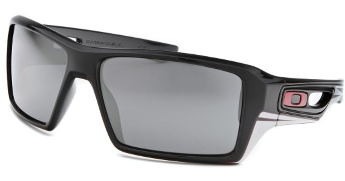 ea6bc1fcabcc ... coupon code for lyst oakley mens tld eyepatch 2 rectangle polar black  sunglasses in black for