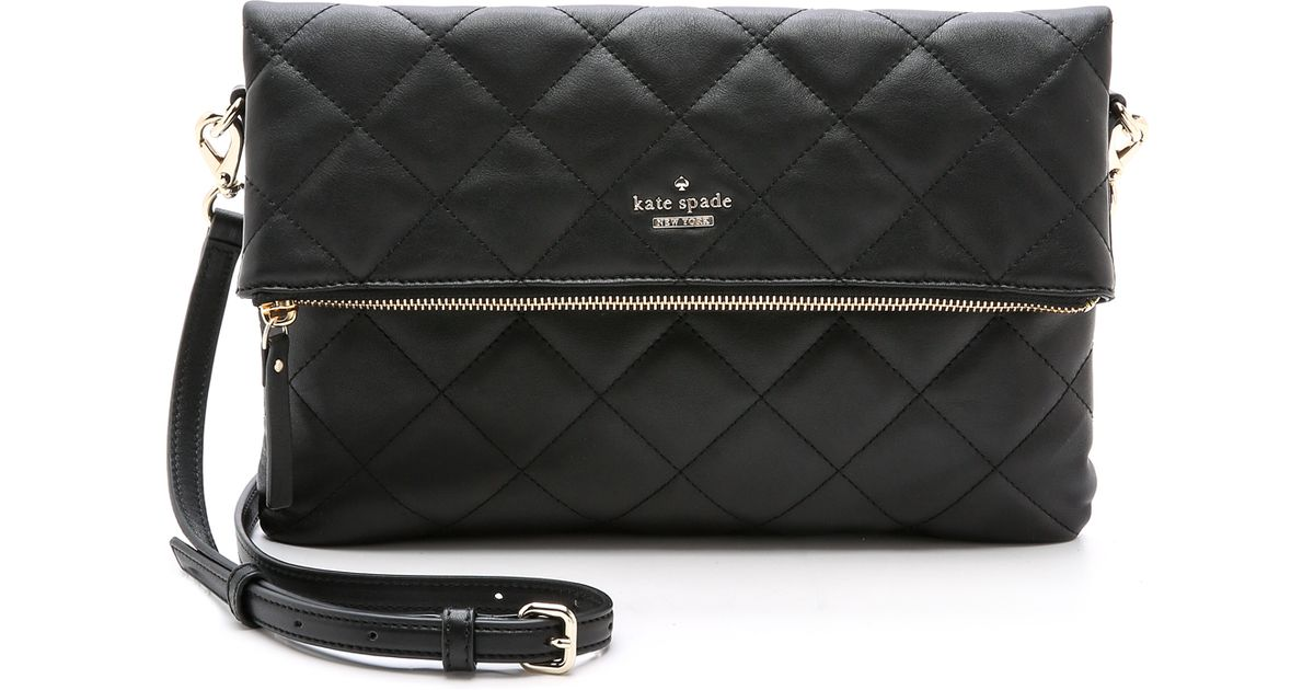 Lyst Kate Spade New York Emerson Place Quilted Carson Cross Body Bag Black In